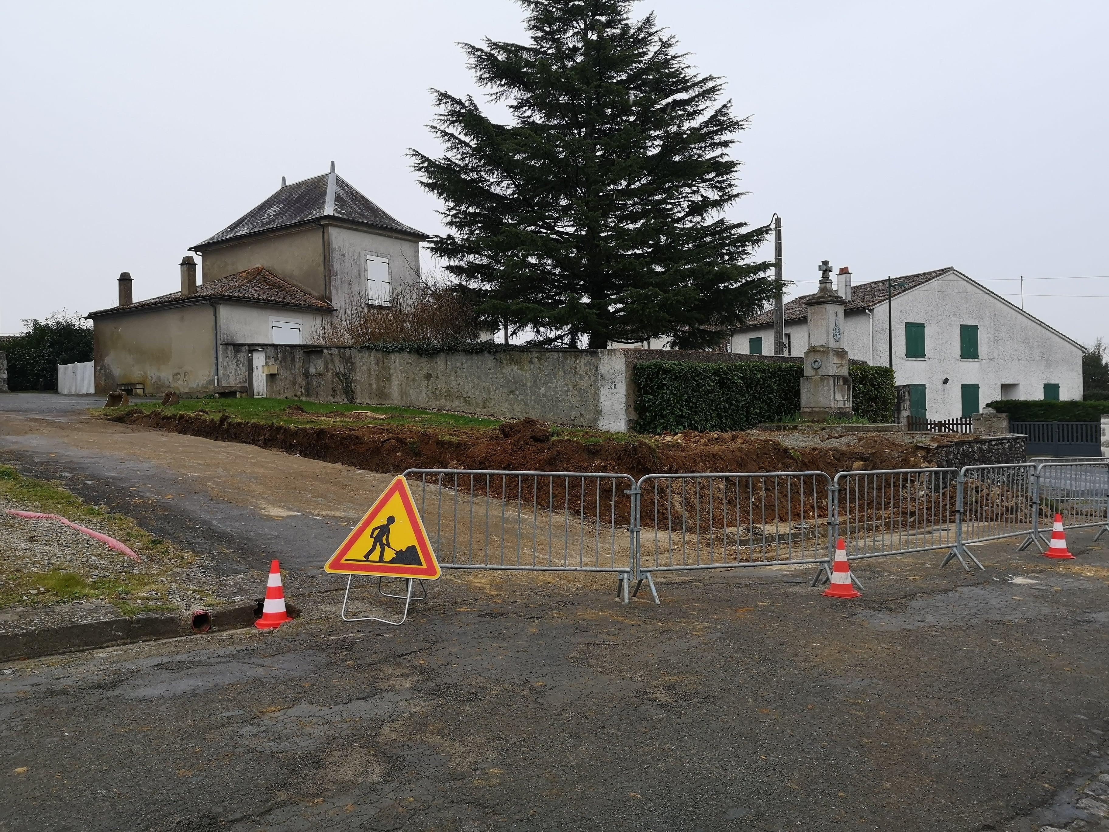 Début des travaux du centre bourg
